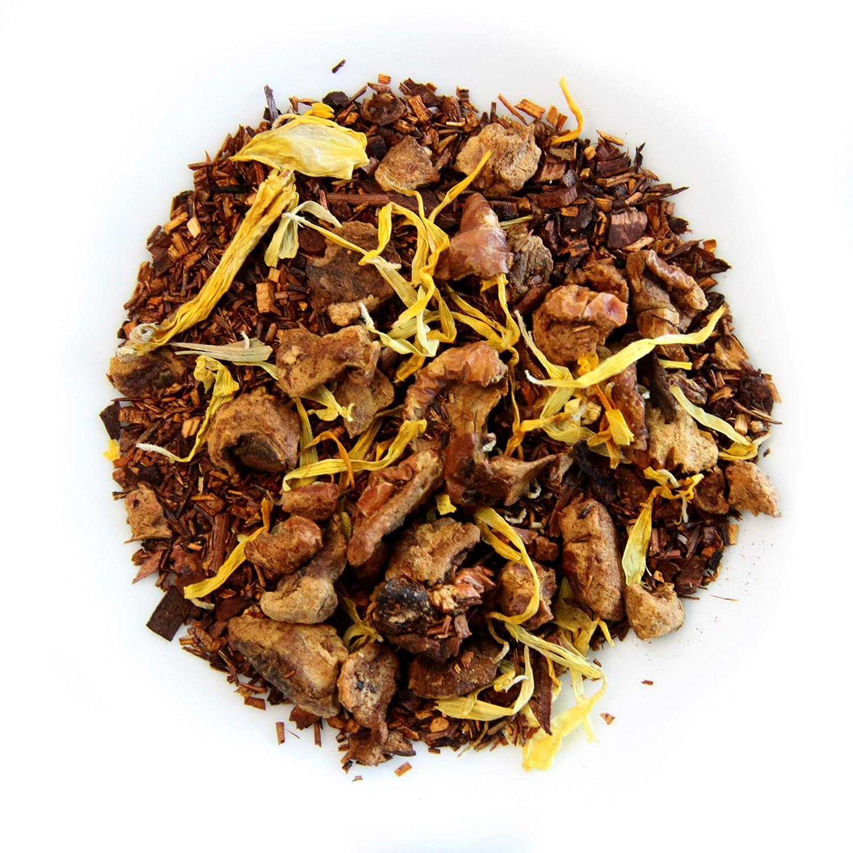 The Grindstone, Organic Caramelized Pear Tea, Fairtrade Certified, Loose leaf Tea, Caffeine Free, PET Snap-on Reusable Kilner Jars, Pack of 2