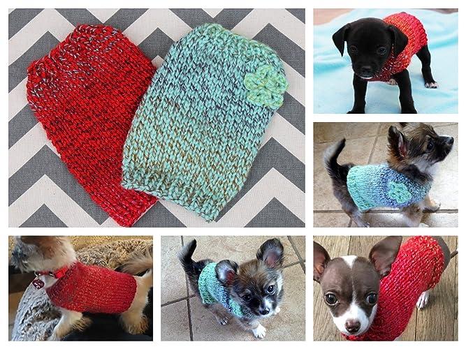 Amazon Dogpuppykitten Sweater Hand Knit Teeny Tiny Rustic