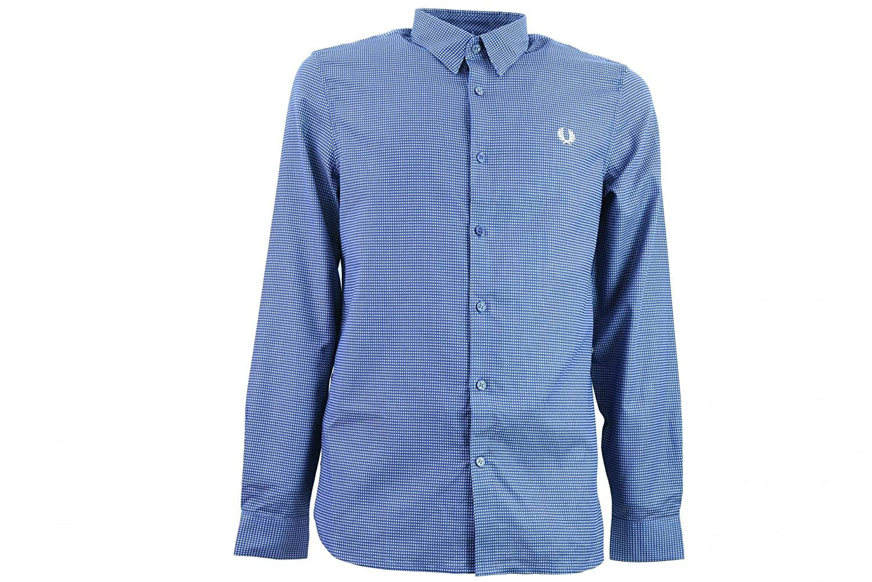 Fred Perry Hombre camisa de manga larga M3528 266 XL Blu: Amazon ...