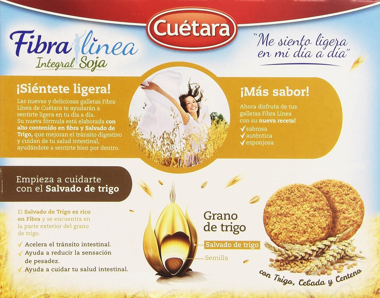 Cuetara Fibralia Galletas Integral de Soja con Fibra de Salvado de Trigo - 550 gr: Amazon.es: Amazon Pantry