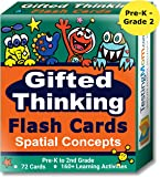 Gifted Thinking Flash Cards – Spatial Concepts for Pre-K - 2nd Grade Non-Verbal Tests – Kindergarten Educational Toy Practice for NNAT test, CogAT test, OLSAT test, NYC Gifted and Talented, WPPSI