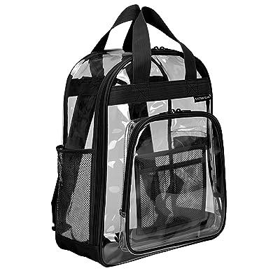 U.S. Traveler Clear School Travel Daypack Backpack, Black, One Size