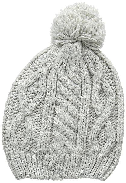 Springfield, 4.T+.Gorro Basico Pompon Gris - Gorro para mujer, color greys, talla única: Amazon.es: Ropa y accesorios