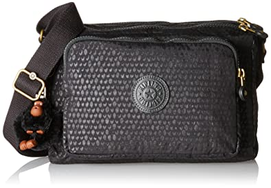 Kipling Womens Reth Shoulder Bag One Size Black Scale Emb