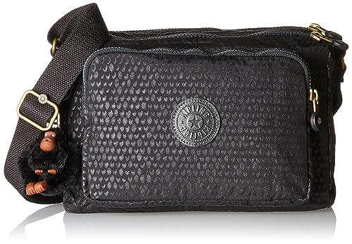 478387f405c Kipling Reth, Women's Cross-Body Bag, Schwarz (Black Scarlet Emb ...