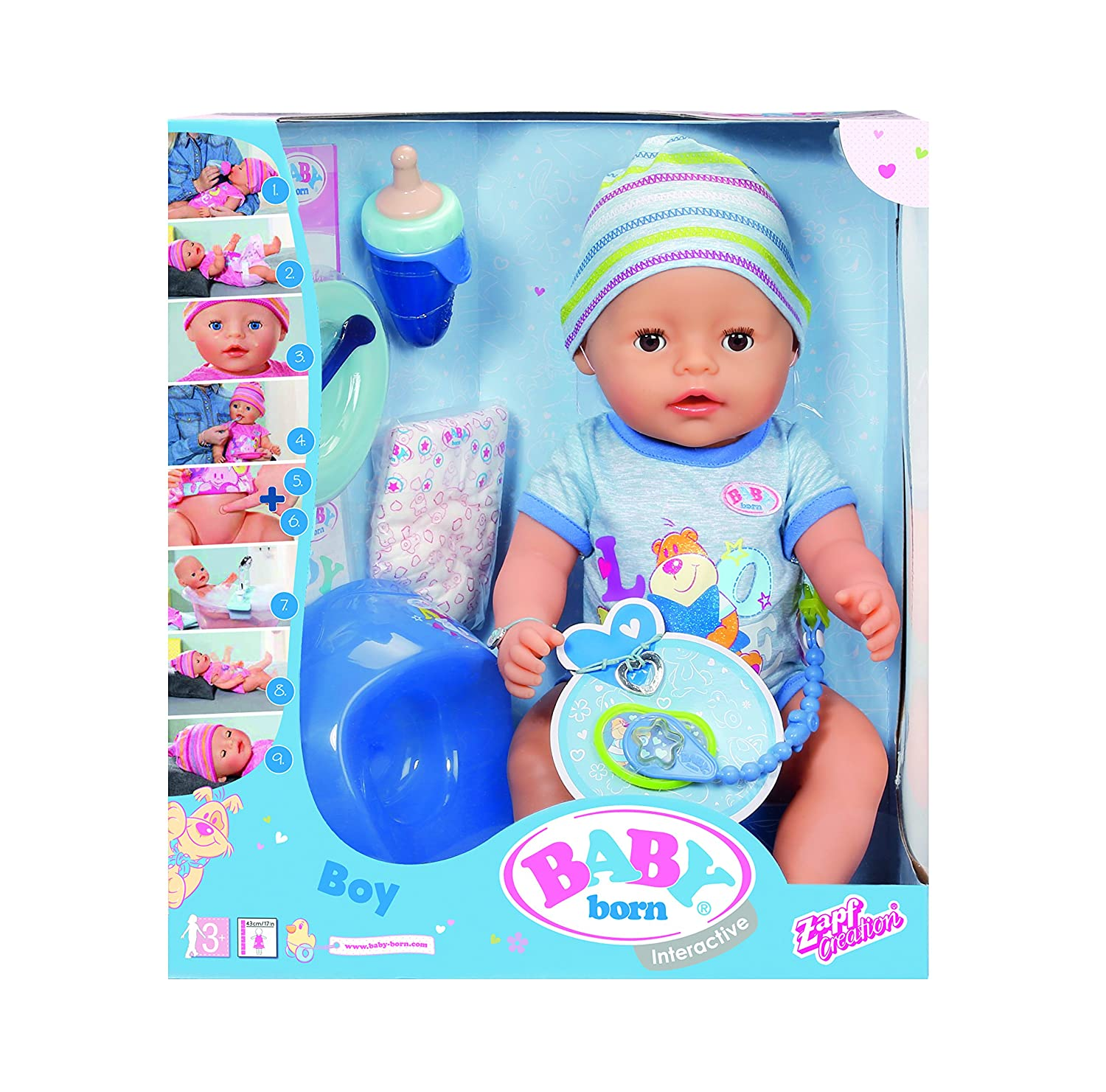 2b9f06b6f45 Amazon.com   Baby Born Interactive Doll Boy   Baby