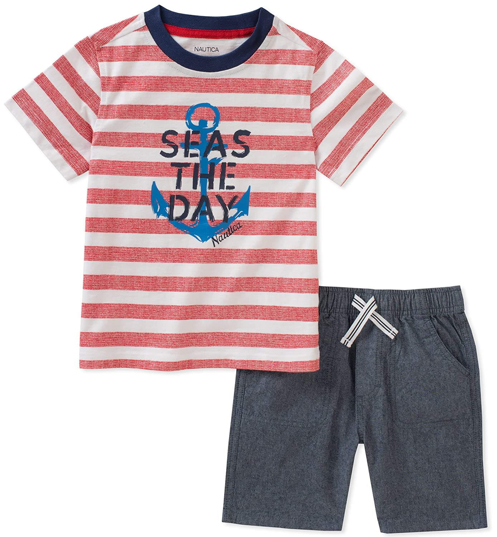 Nautica Baby Boys Tee with Shorts N030B65Q