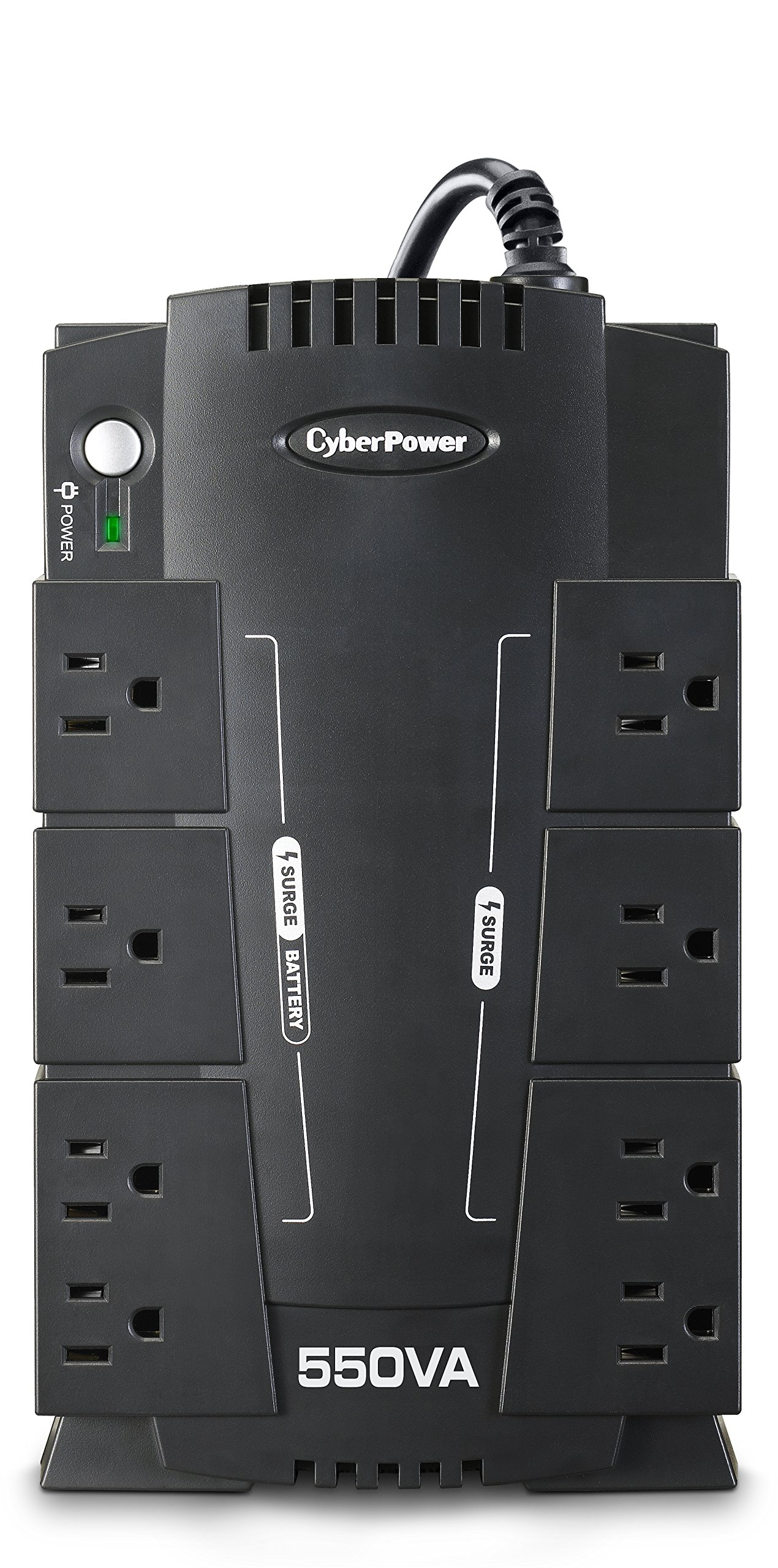 CyberPower CP550SLGTAA Standby UPS System, 550VA/330W, 8 Outlets, Compact, TAA Certified by CyberPower