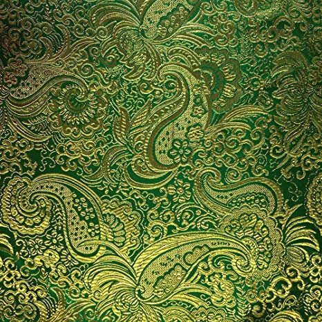 Amazon.com: Metallic Paisley Brocade Fabric 60\