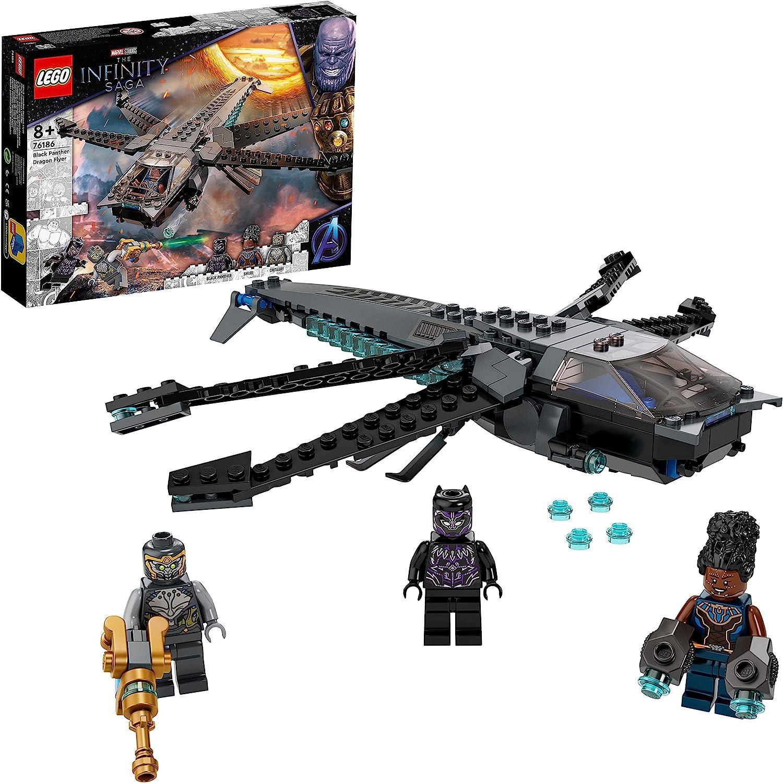 レゴ(LEGO) マーベル・スーパー・ヒーローズ ブラックパンサー ドラゴン・フライヤー 76186