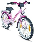 PROMETHEUS® Premium Vélo pour enfants à partir d'env. 6 | Edition Classic 18 | Couleur Rose & Blanc