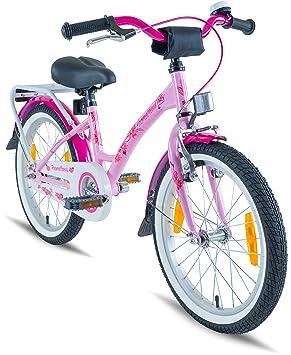 Prometheus Bicicleta Infantil para niña 18 Pulgadas | Rosa Lila | A Partir de 6 años