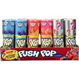 Push Pop Candy, Cotton Candy Bubble Gum Assorted Flavors - 24 ct.
