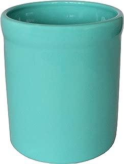 product image for American Mug Pottery Ceramic Utensil Crock Utensil Holder, Made in USA, Turquoise