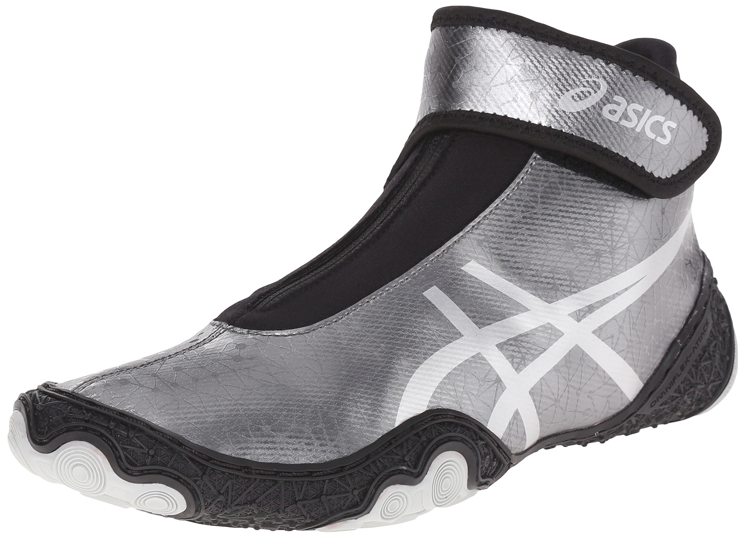 ASICS Men's Omniflex Attack V2.0 Wrestling Shoe, Gunmetal/Silver/Black, 10 M US