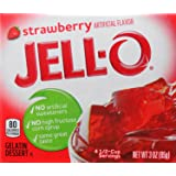 Jell-O Gelatin Dessert, Strawberry Flavor, 3-Ounce Box (Pack of 5)