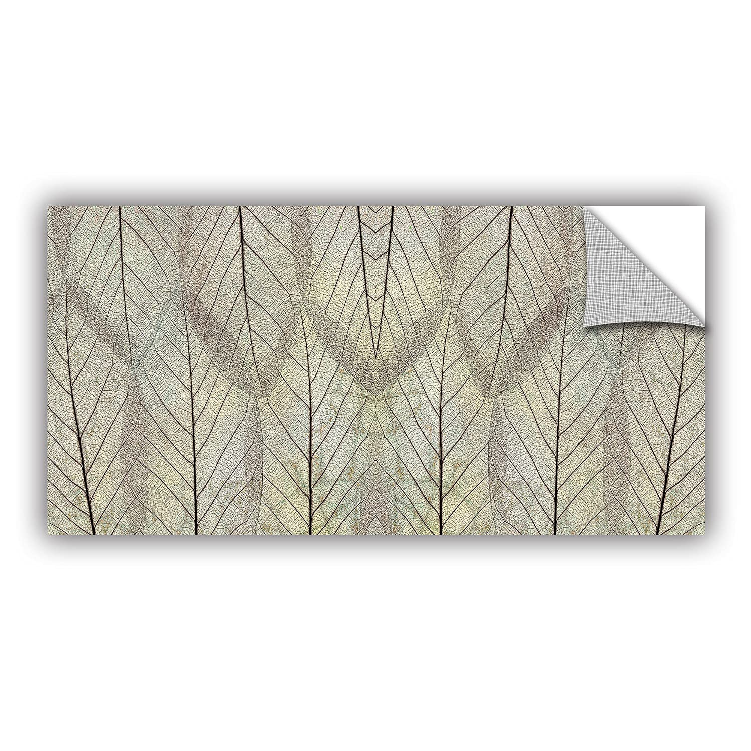 Cream 18 by 36 ArtWall Cora Nieles Leaf Design Appeelz Removable Graphic Wall Art