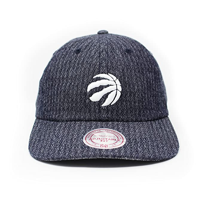 Mitchell   Ness Men s Toronto Raptors Denim Strapback Dad Hat O S Blue 7e431de31aa