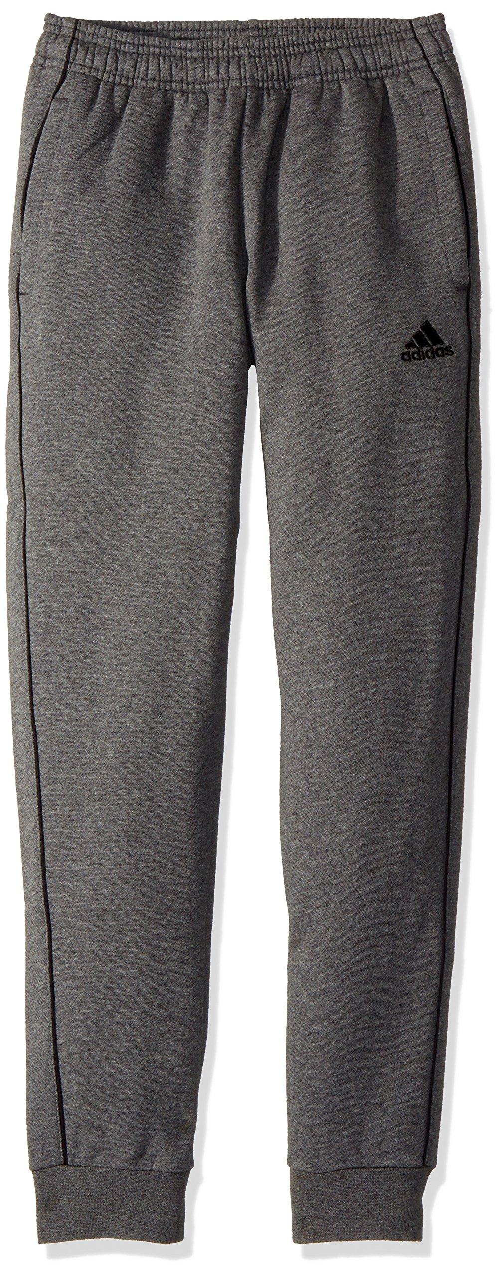 adidas Core 18 Sweat Pants, Dark Grey Heather/Black, 2XS by adidas