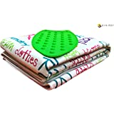 Synergy Cotton, Felt and Silicon Iron Mat for Use as Ironing Board, 47x27-inch(Blue and White)