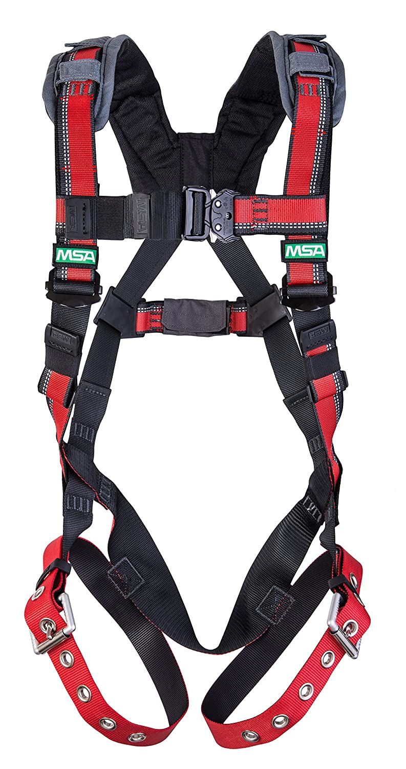 Image of Harnesses MSA 10105957 EVOTECH Harness with Back D-Ring, Tongue Buckle Leg Straps, Qwik-Fit Chest Strap, Shoulder Padding, X-Large