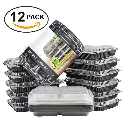 8 opinioni per Matana pasto Prep/Storage Container, Tupperware, impilabile, scomparti pranzo