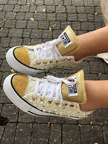 Pearl and Rhinestone Sneakers