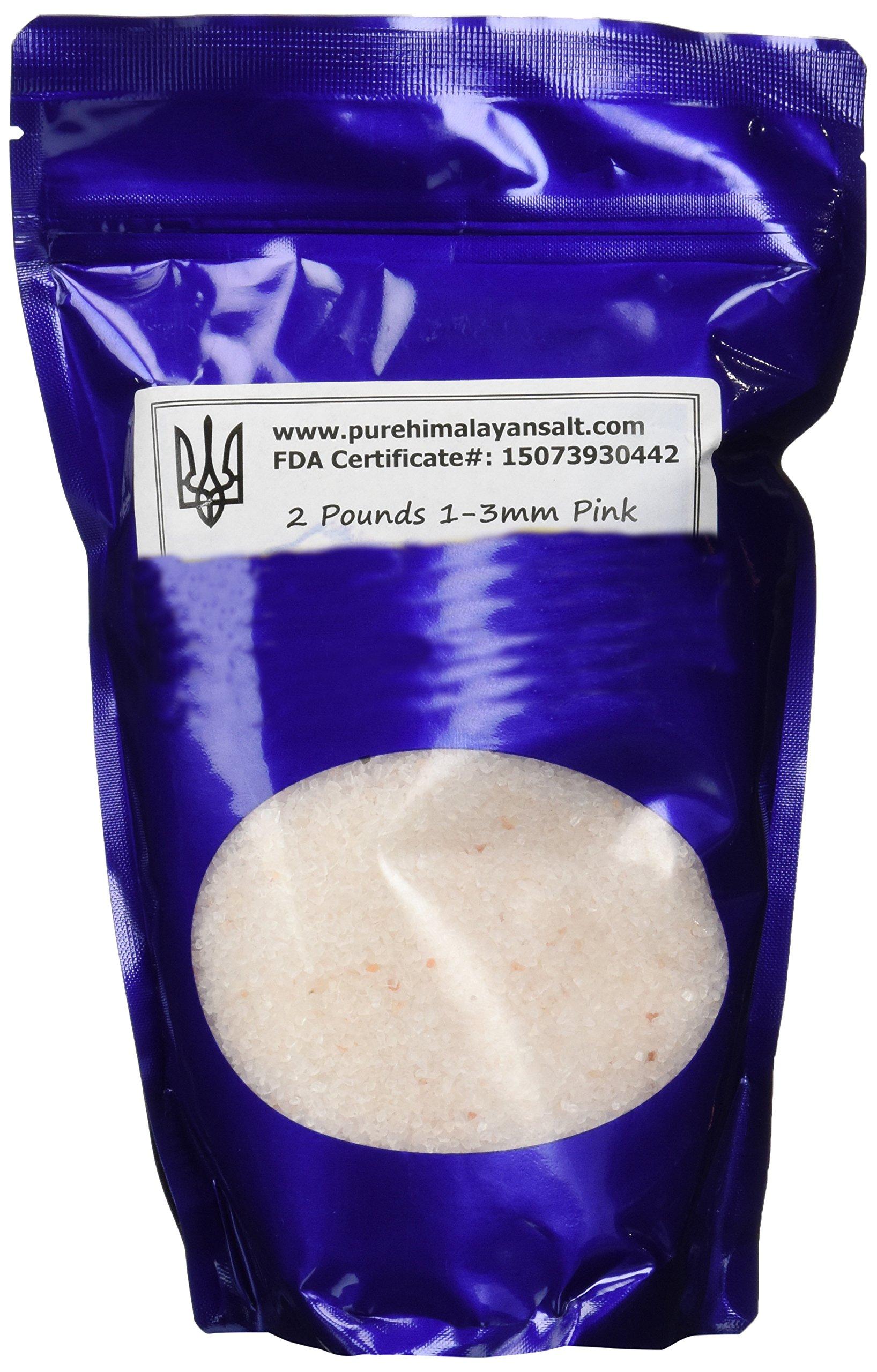 Pink Himalayan Salt 2 Pounds 1-3mm Ideal for Grinder FDA Approved No Additives or Chemicals