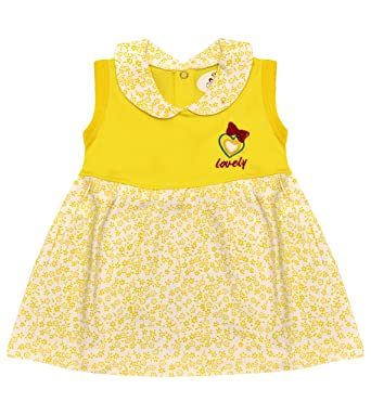 f4897ea843 LEWEL Baby Girl s Cotton Mini Frock (D05YELM