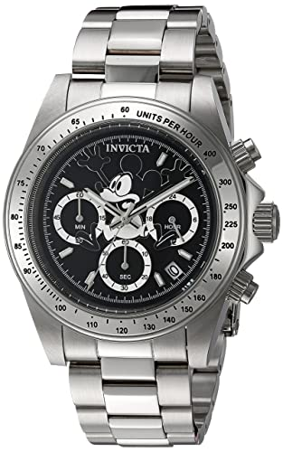 48b8882f287 Invicta 22864 Disney Limited Edition - Mickey Mouse Unisex Wrist Watch  Stainless Steel Quartz Black Dial  Invicta  Amazon.co.uk  Watches