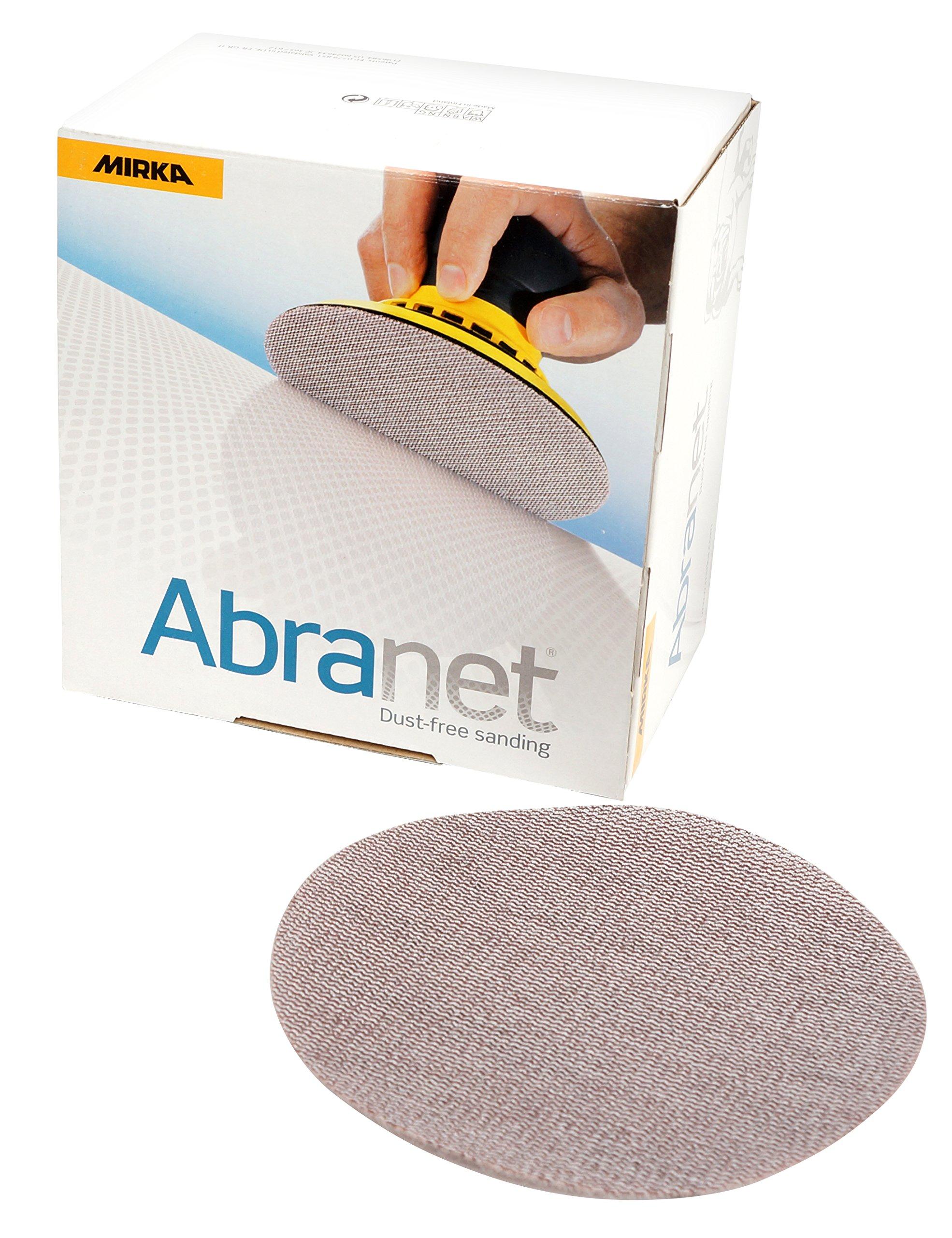 Mirka 9A-232-320 Abranet 5'' 320 Grit Mesh Abrasive Dust Free Sanding Discs (Box of 50 Discs) by Mirka (Image #1)