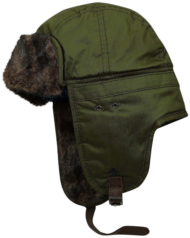 b5dbd9128d6 Amazon.com  Original Penguin Men s Waxed Cotton Trapper Hat  Clothing