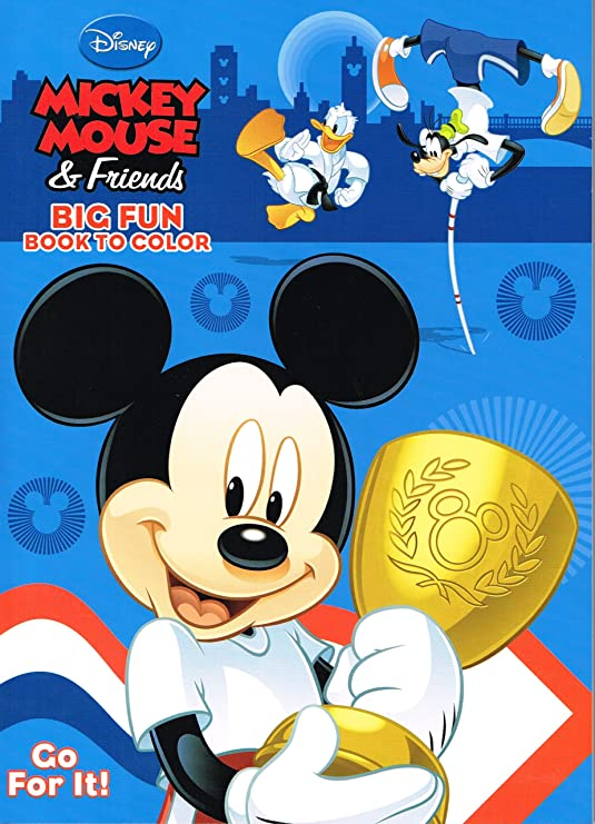 - Amazon.com: Mickey Mouse Clubhouse Coloring Book - Big Fun Disney Minnie:  Home & Kitchen