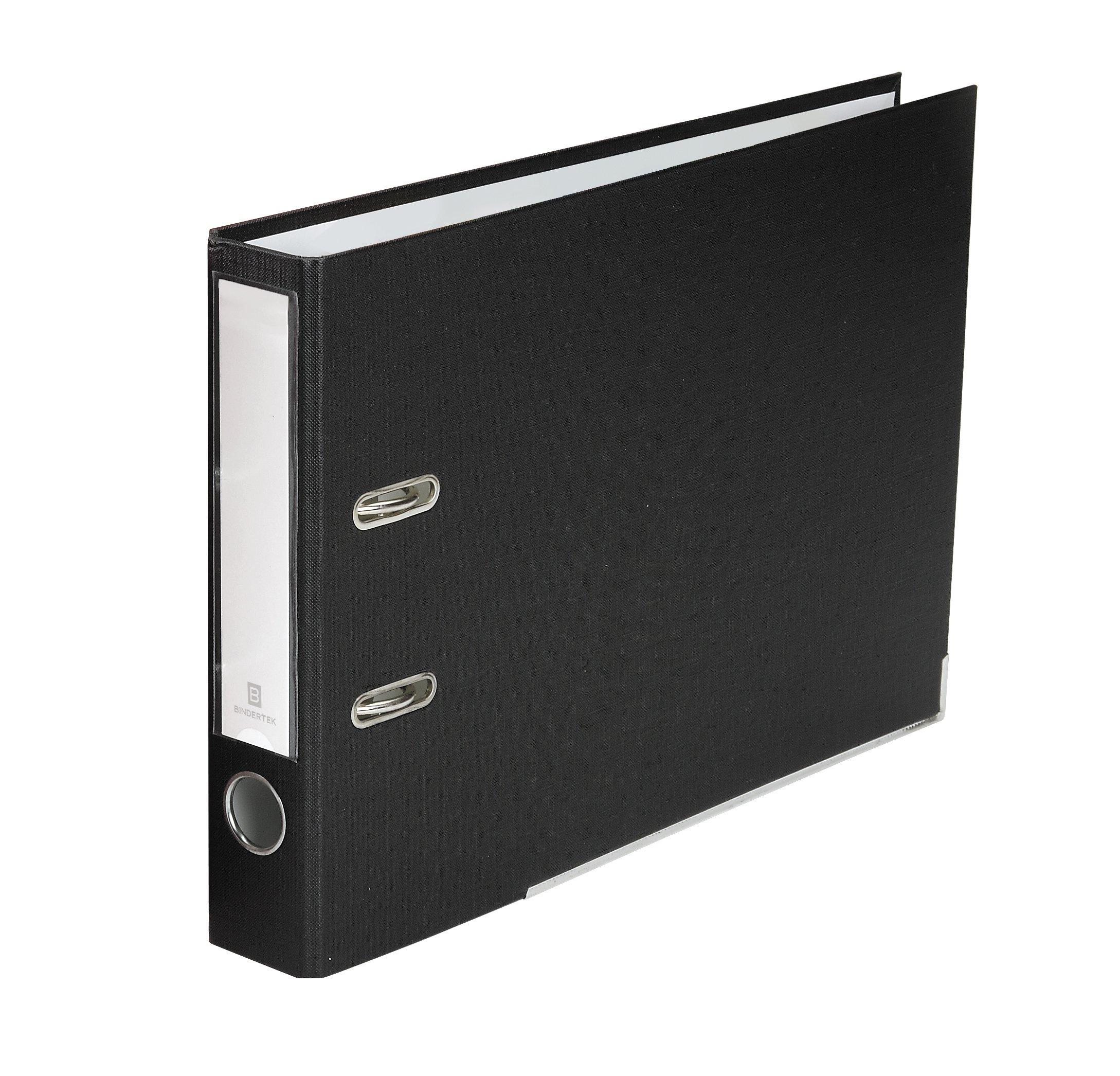 Bindertek 2-Ring 2-Inch Premium Top File Binders, For Top-Punched Paper, Black (TFSLN-BK)