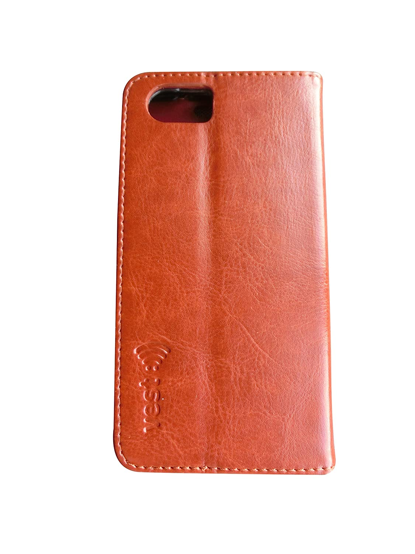 Vest Anti-Radiation Wallet Case for BlackBerry KEYone (Brown
