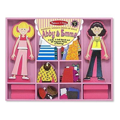 Melissa & Doug Abby & Emma Magnetic Dress-Up: Melissa & Doug: Toys & Games