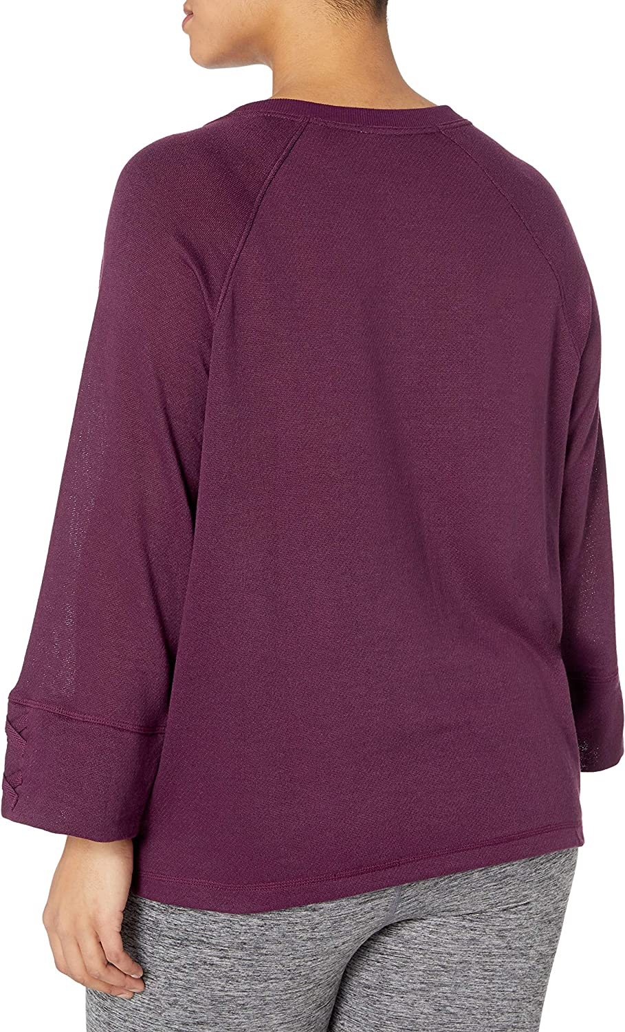 Just My Size Womens Sweatshirt with Lace-up Sleeves Shirt