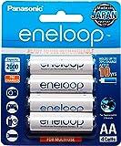 Panasonic Eneloop Rechargeable Batteries, AA, 4 Count