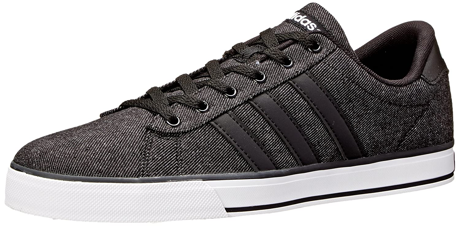 adidas NEO Men's SE Daily Vulc Lifestyle Skateboarding Shoe B00PEZATPM 10.5 M US|Black/Black/White