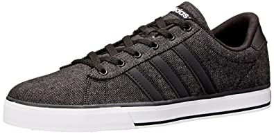 Adidas Neo Men's SE Daily Vulc Lifestyle Skateboarding Shoe ,Black/Black/White,