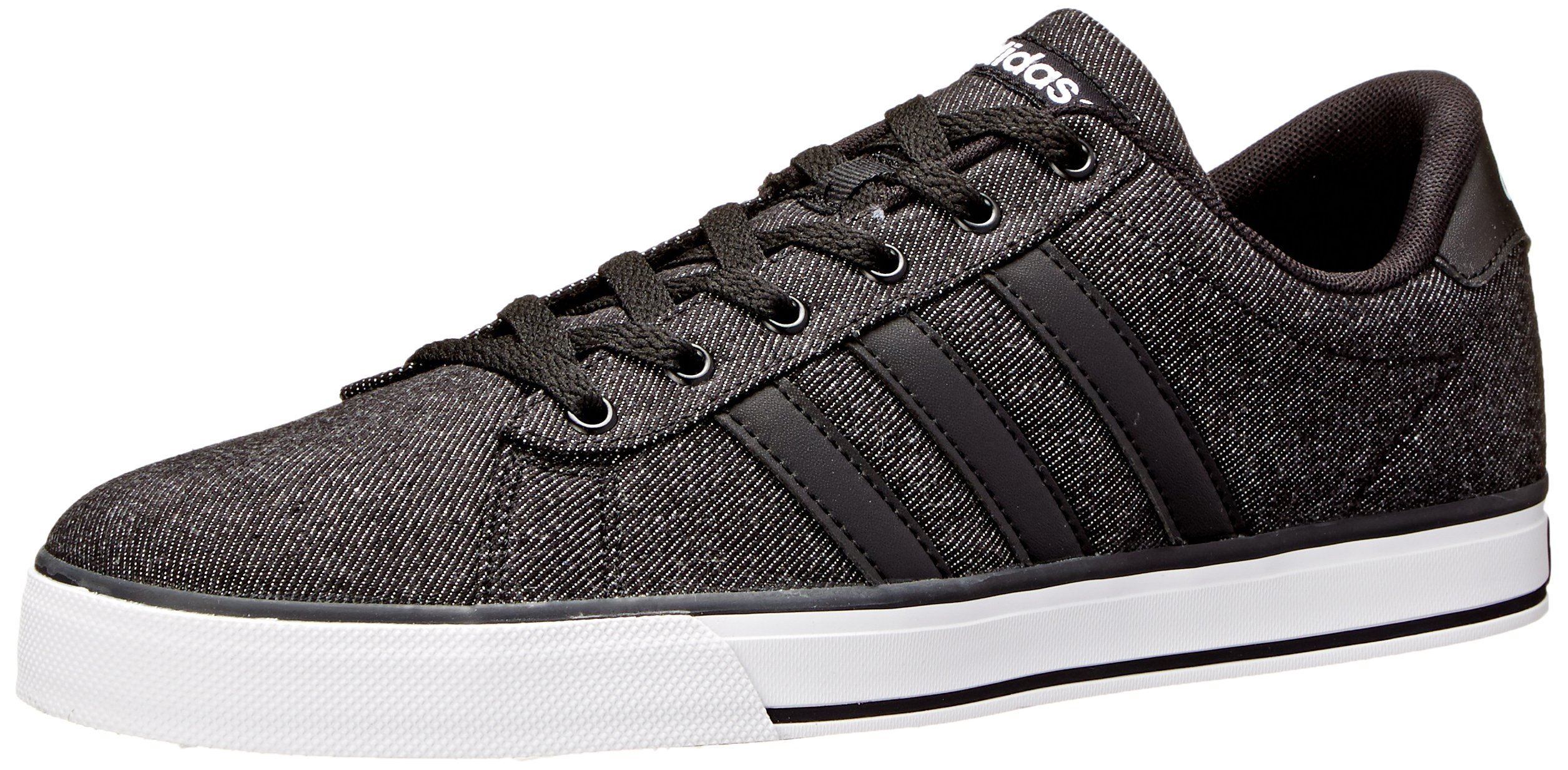 adidas Neo Men's SE Daily Vulc Lifestyle Skateboarding Shoe,Black/Black/White,12 M US by adidas