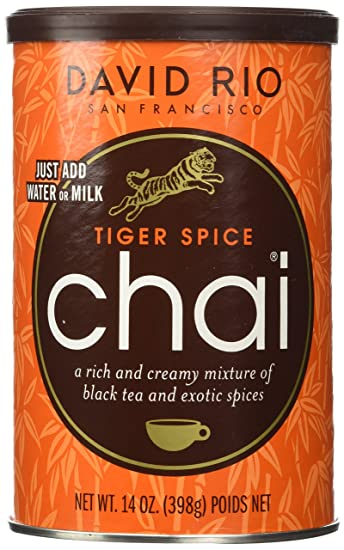 David Rio tigre Spice Chai, 14 oz. – 2 botes