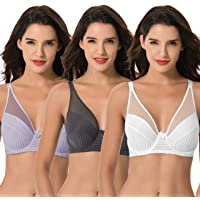 Curve Muse Women's Plus Size Minimizer Unlined Underwire Full Coverage Bra