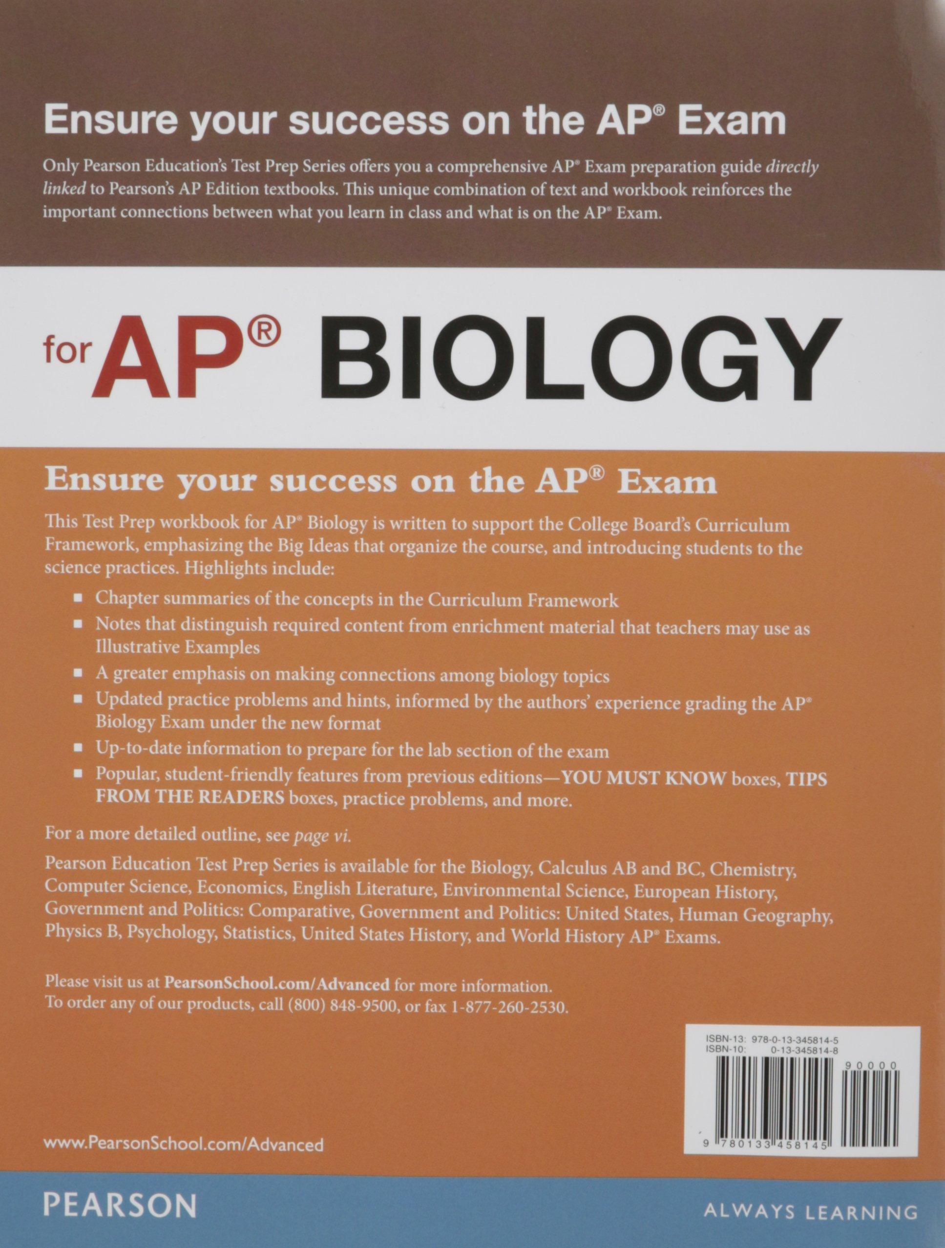 Preparing for the Biology AP* Exam (School Edition): Jane B. Reece, Lisa A.  Urry, Michael L. Cain, Steven A. Wasserman, Peter V. Minorsky, Robert B.  Jackson ...