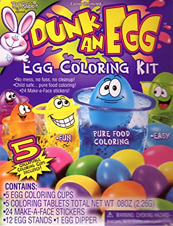 Amazon.com : Easter Unlimited Dunk An Egg Coloring Kit : Childrens ...