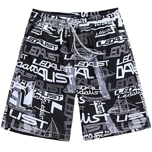 0241d051f3 Men's Quick Dry Board Shorts Bathing Suits Swimming Trunks Beach Pants, No  Mesh Liner | Amazon.com