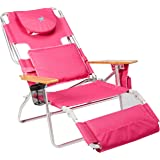 Ostrich Deluxe Padded Sport 3 In 1 Aluminum Beach Chair, Pink