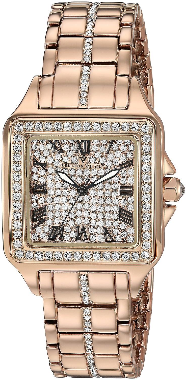 Christian Van Sant Women 's ' Splendeur ' Quartz真鍮andステンレススチールCasual Watch, Color :ローズgold-toned (モデル: cv4622 ) B079S8BL9Z