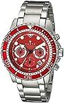 Haste ST1200204 Reloj Análogo para Hombre, Redondo, rojo