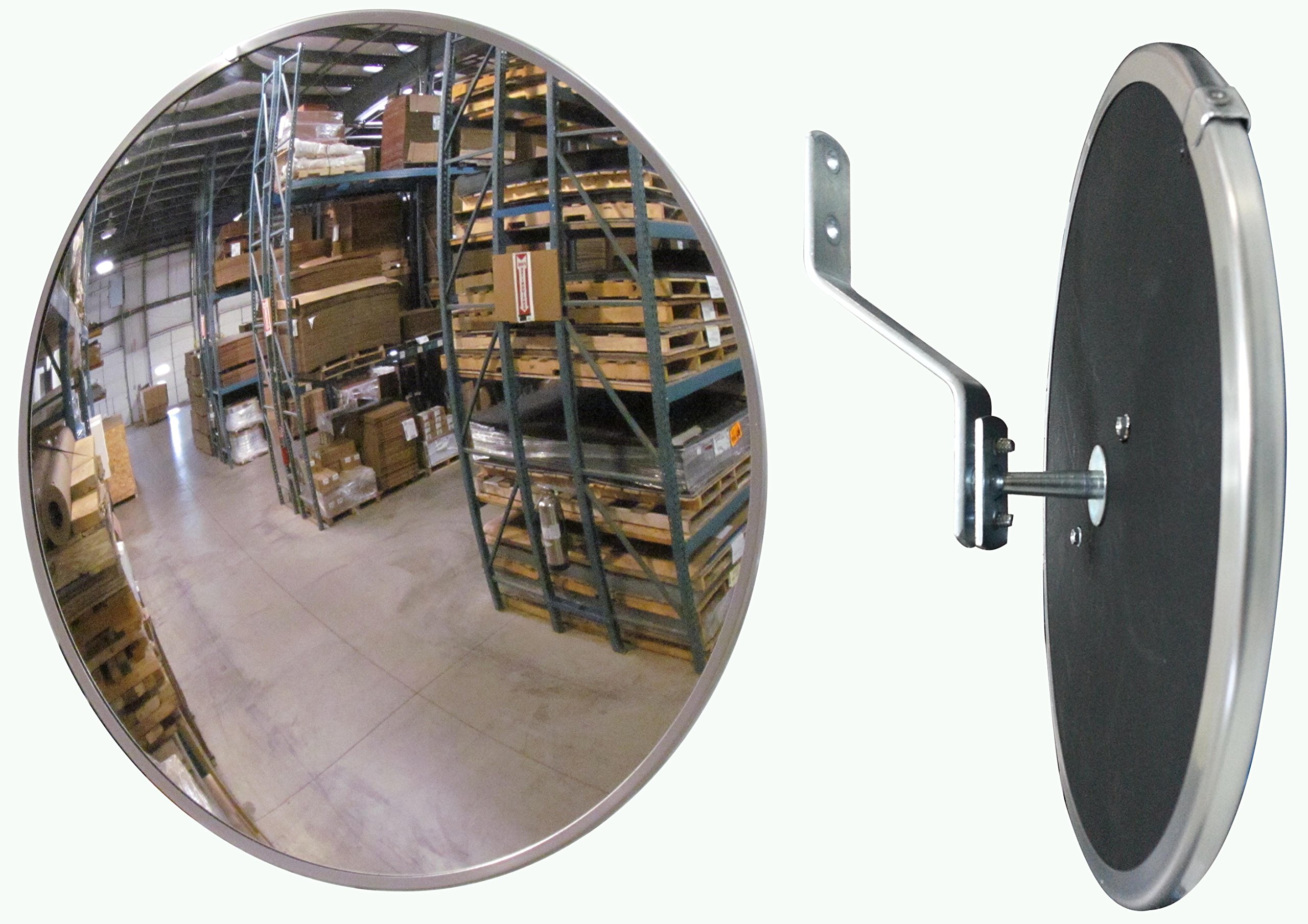 #1 Industrial Rated 12'' Dia. Acrylic Indoor/Outdoor Safety & Security Convex Mirror Made in The USA